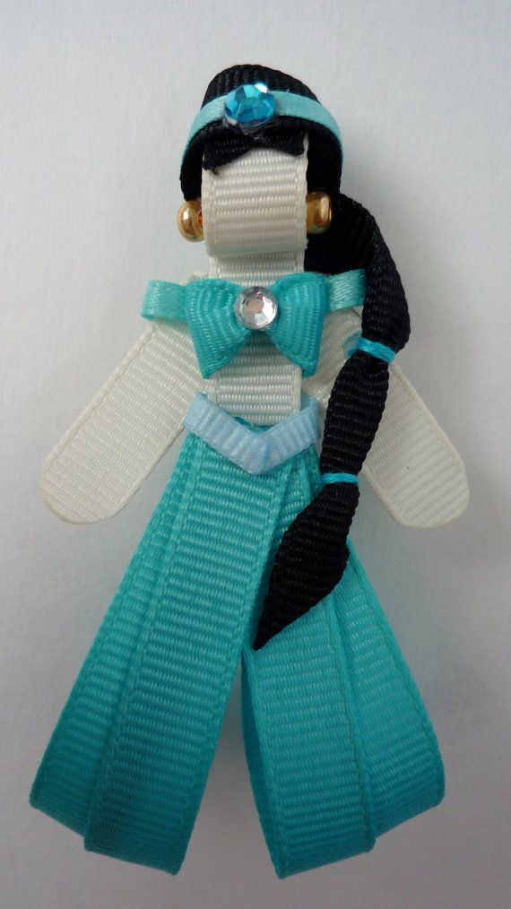 Jasmine Hairclip Ribbon Sculpture by TakeABowHandcrafts on Etsy