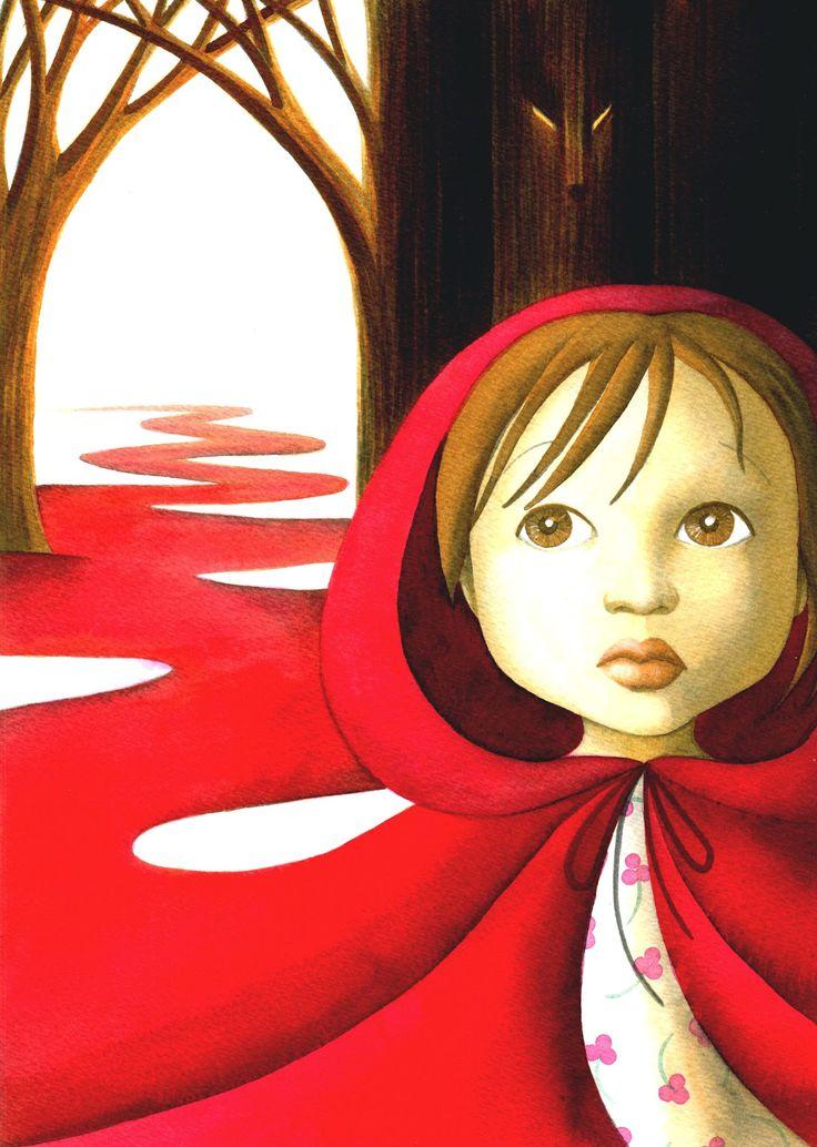 Contos de Grimm - Chapeuzinho Vermelho | Design by Veruschka
