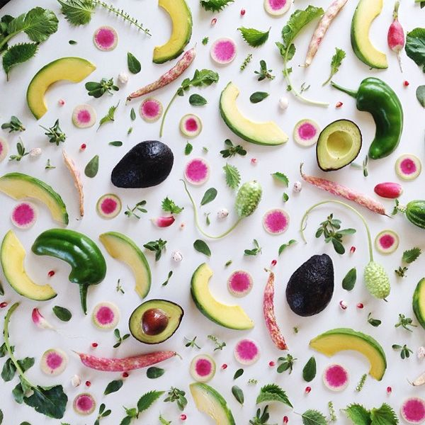 Amazing food patterns by Julie Lee