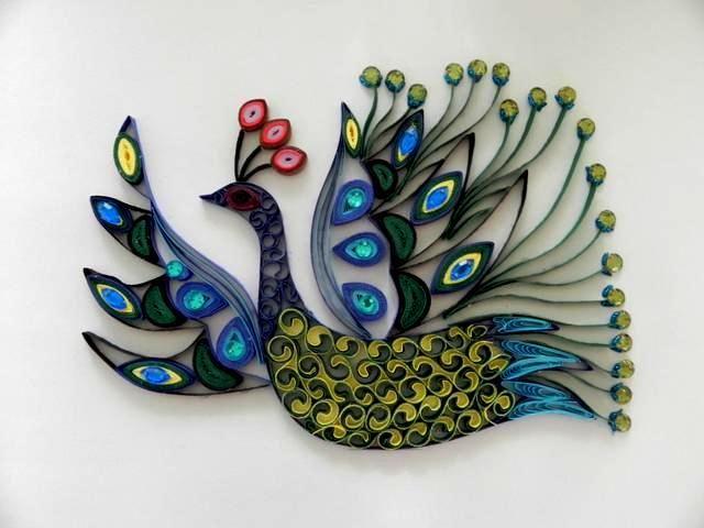 peacock quilling patterns | Paper Quilled Swan- Svetlana BELOVA Smilingarts