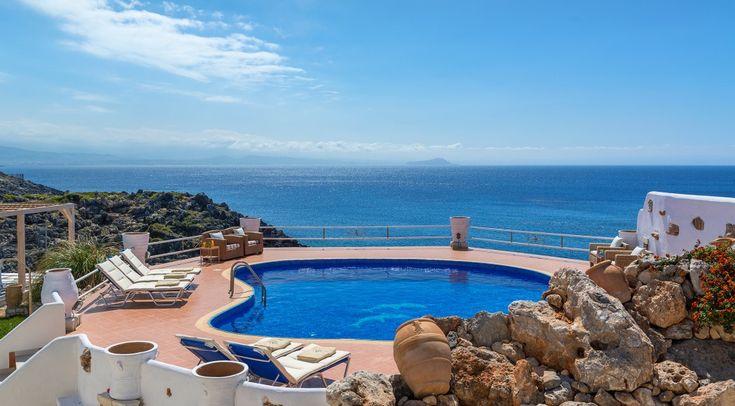 Seven bedroom sea front villa Faidra with a magical sunset, Stavros | Cretico