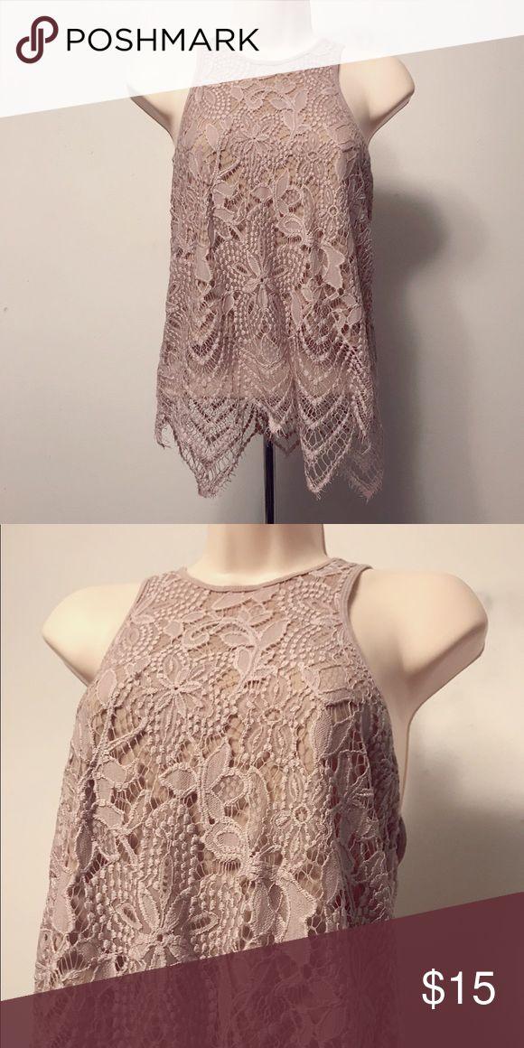 Rose Express tank top Gently used, good condition. Express Tops Tank Tops
