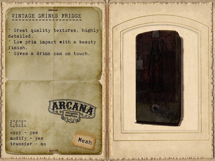 {A} Vintage Drinks Fridge