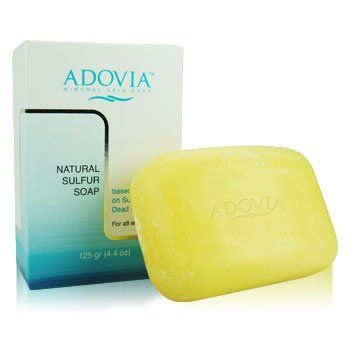 #Adovia Natural Sulfur Soap for treament of acne and blemishes. #SusanSaidWHAT My daughter swears by this!
