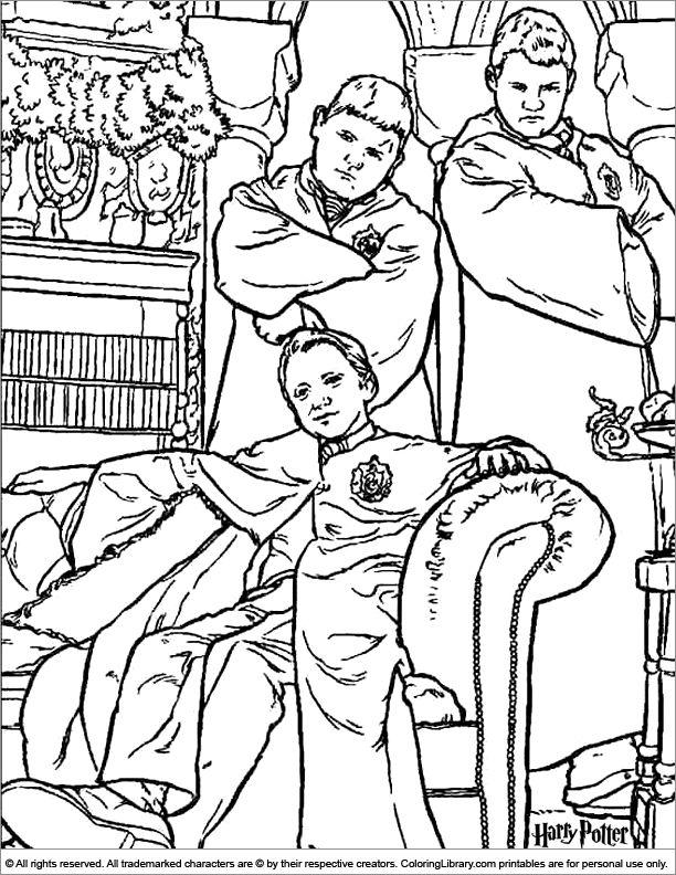 Harry Potter coloring page | Harry potter, Kreslení ...