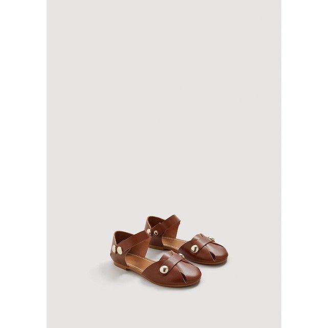 Sandales cuir cloutées MANGO KIDS