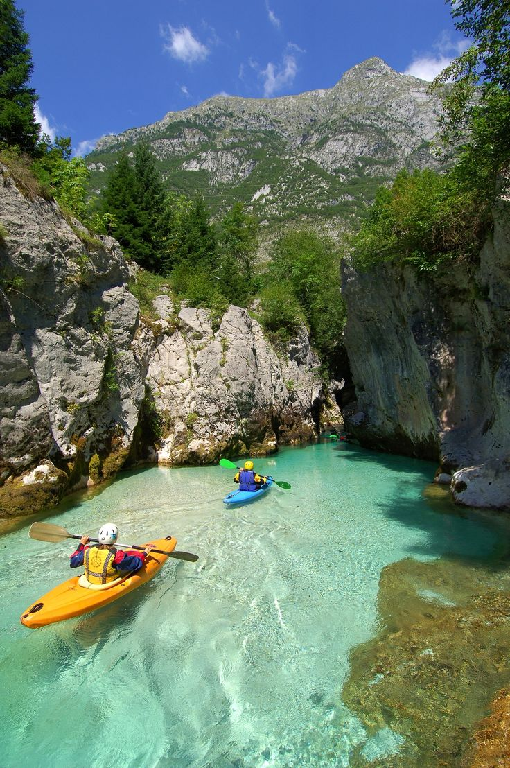 Soca Gorges and cave in Slovenia. Photo by Jesenicnik.