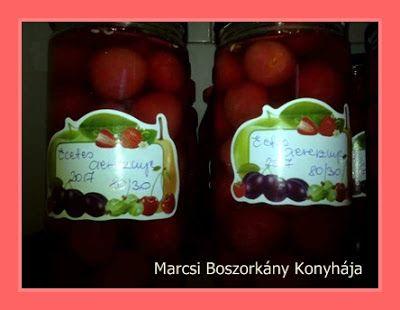 Marcsi Boszorkány Konyhája: Ecetes cseresznye tartósítószer mentesen