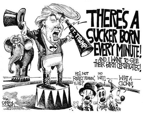 Image result for donald trump born without a heart cartoons