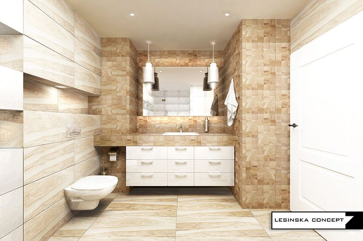 WHITE AND WOOD IN BATHROOM