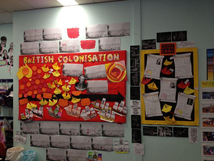 British Colonisation of Australia Unit of Work display ideas.
