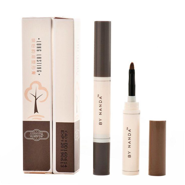 2017 Fashion Professional Eye Brow Dye Cream Pencil Long Lasting Waterproof Brown Tint Paint Henna Eyebrow Set Makeup Kit