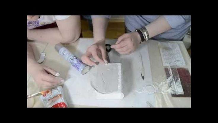 Видеозапись книга шкатулка с медальерном. Учимся работать с самоотвердевающей…
