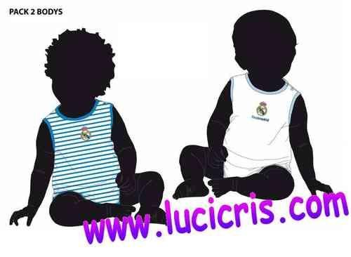 2 Bodys REAL MADRID para Bebé Tirantes