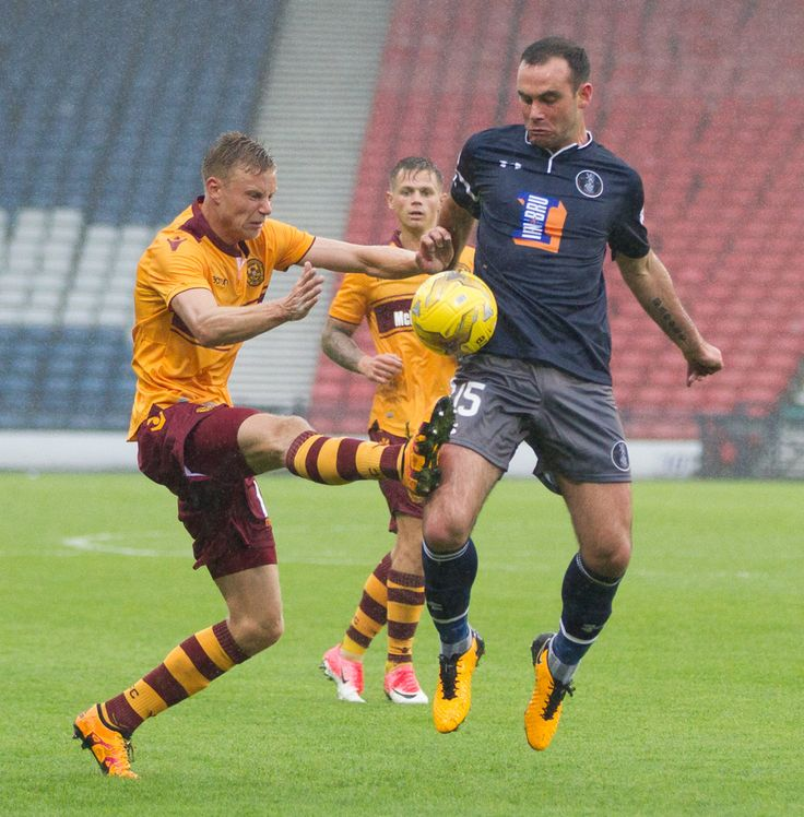 Queen's Park's David Green in action during the Betfred Cup game between Queen's Park and Motherwell.
