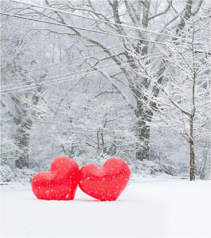 hearts, snow, winter