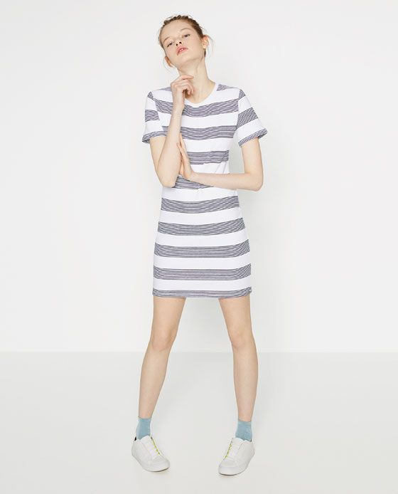 Image 1 of STRIPED FITTED DRESS from Zara