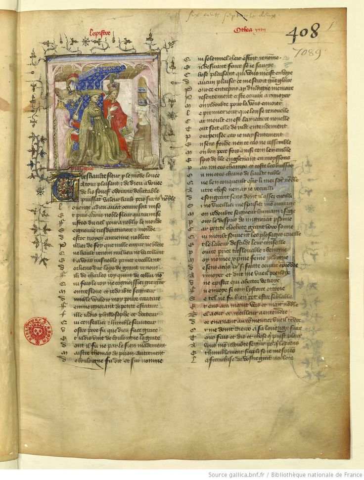 L'Epistre Othea à Hector, fol 1r