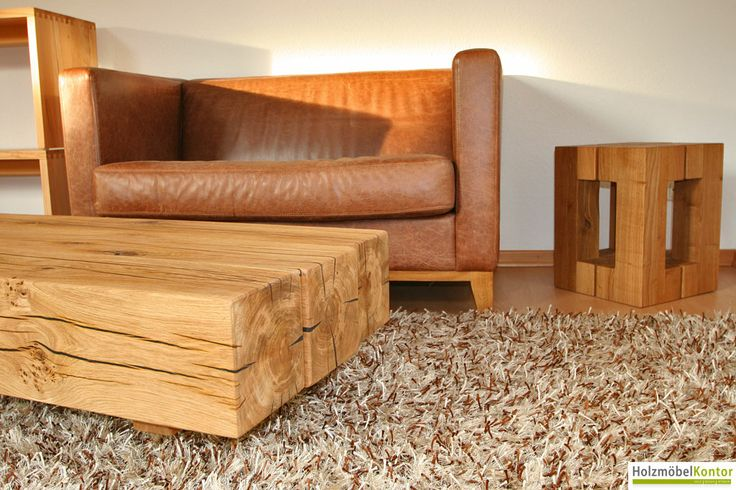 17 best images about tische on pinterest shops hands and chalets - Couchtisch holzblock ...