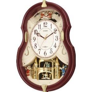 Sport Watches - CITIZEN (シチズン) 電波アミューズ 掛け時計 パルミューズコンチェルDX 振り子、回転飾り 6曲メロディ 4MN495-006 | 最新の時間センター