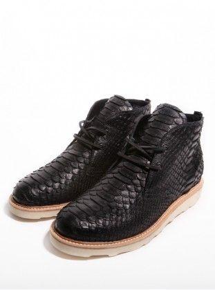 Clothsurgeon python skin chukka boot