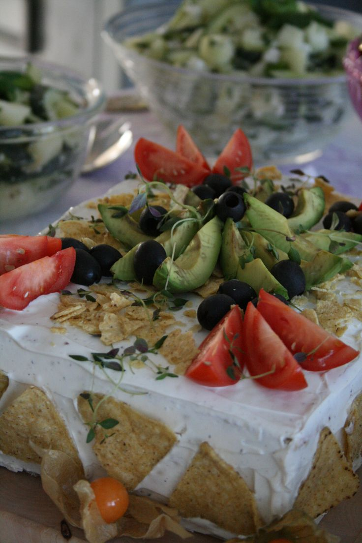 Voileipäkakku meksikolaisilla mauilla