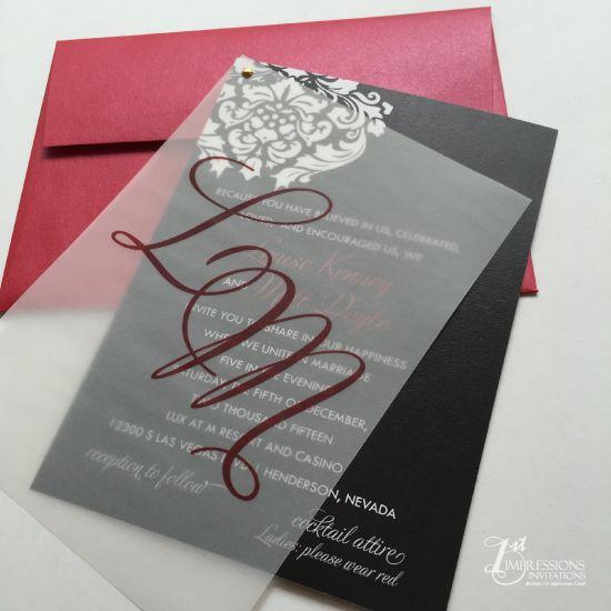 Image Result For Vellum Wedding Invitations