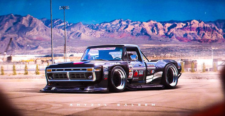 Widebody 70's Ford F-Series Rendering Is Out Of This World, You Can Ken Block?  For Gymkhana 7, Ken Block switched things up by using a completely bespoke Ford Mustang rather than one of his Rally or Global Rally-X Cars.  Ken Block's Famed Video Series uses a specially-designed '78 Ford Escort Mk2, rendering genius Khyzyl Saleem has decided to imagine how a possible Gymkhana Pick-Up Truck could look.    http://carthrottle.com/post/wo9y77d/
