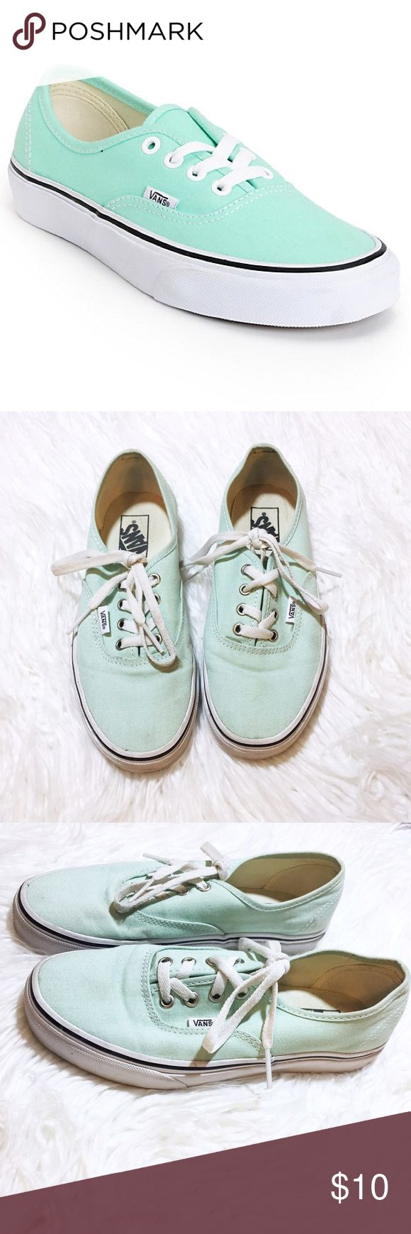 Teal vans 🐬 Teal vans Worn a bit could use a wash on the outside but not too bad Size: 7.5 Original price: $40 Vans Shoes Sneakers