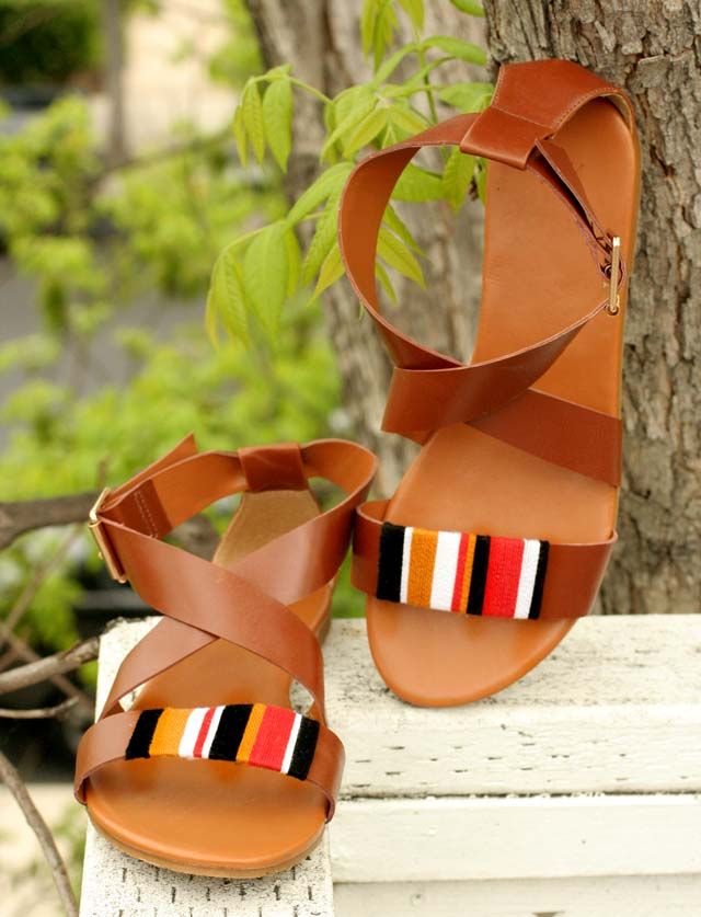 //: Tribal Wrap, Diy'S, Fashion Diy, Wrap Sandals, Diy Sandal, Summer, Crafts