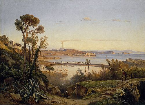 Giacinto Gigante - Hermitage Museum. View of the bay of Naples (1845)