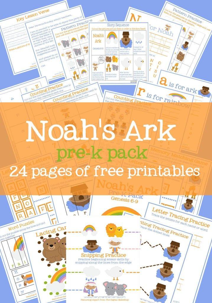 Free Noah's Ark Preschool Printable Pack