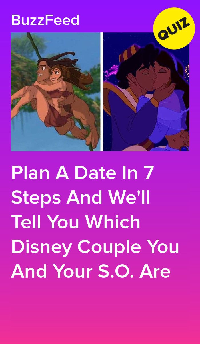 Plan A Date In 7 Steps And We'll Tell You Which Disney