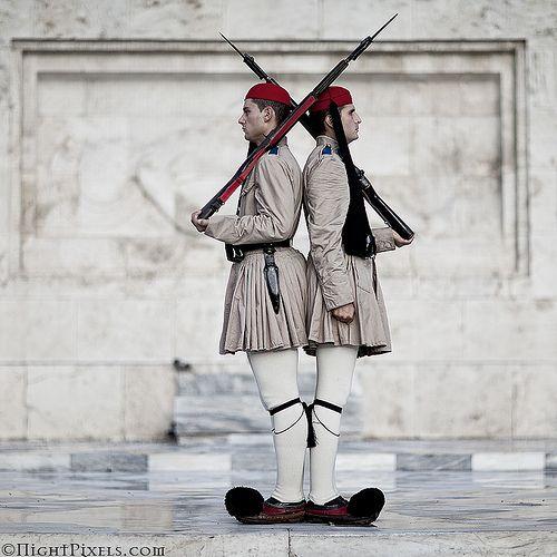 Military Discipline.   The Tomb to the Unknown Soldier, Syntagma, Athens, Greece.