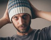 Men's knit hat, men's knit beanie, merino wool knitted beanie