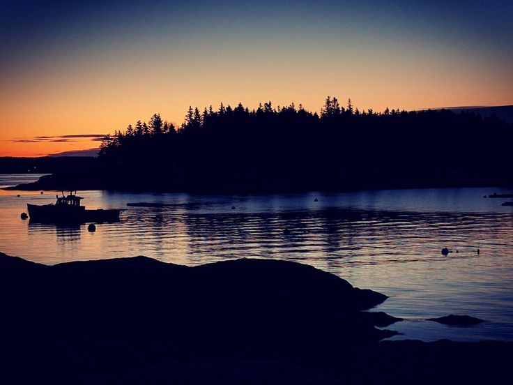 Five Islands sunrise Georgetown Maine taken with Nexus 6P [OC] [1506x1130]