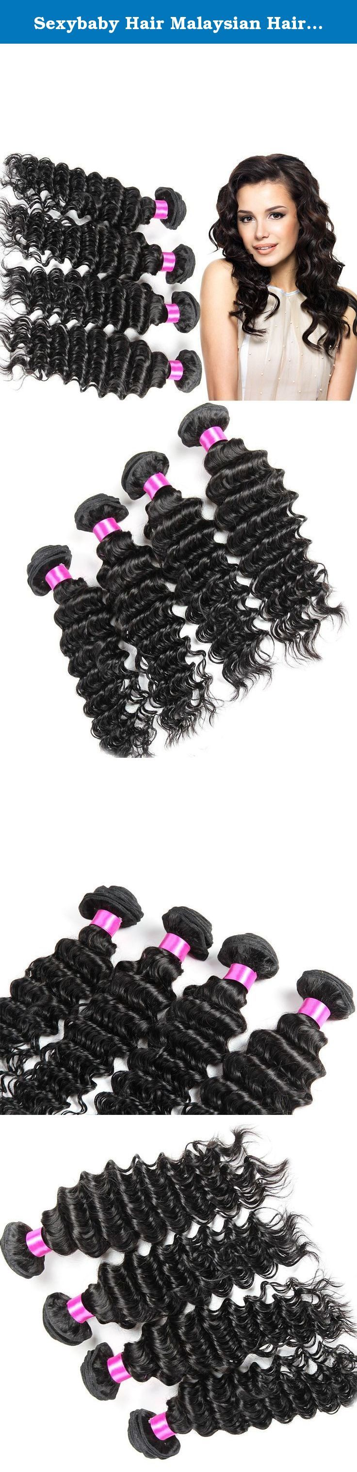 Sexybaby Hair Malaysian Hair 8a Grade 4 Bundles 100% Weft Real Virgin Human Hair Extensions Deep Wave Unprocessed Natural Black (24 24 26 26).  Hair Extension Type: Weaving  Material: Human Hair  Color Type: Pure Color  Suitable Dying Colors: All Colors  Hair Weft: Machine Double Weft  Can Be Permed: Yes  Chemical Processing: None  Material Grade: Virgin Hair  Net Weight: 95-105g/bundle  Brand Name: SexyBaby Hair  Material: 100% unprocessed virgin human hair  Color: Natural…