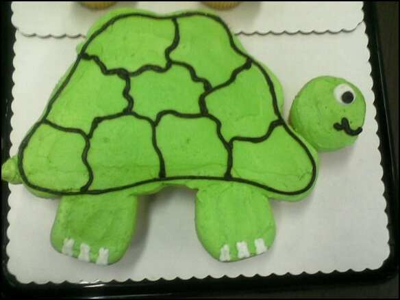 mini cakes forward turtle cupcakes this shape for pull apart cake ...