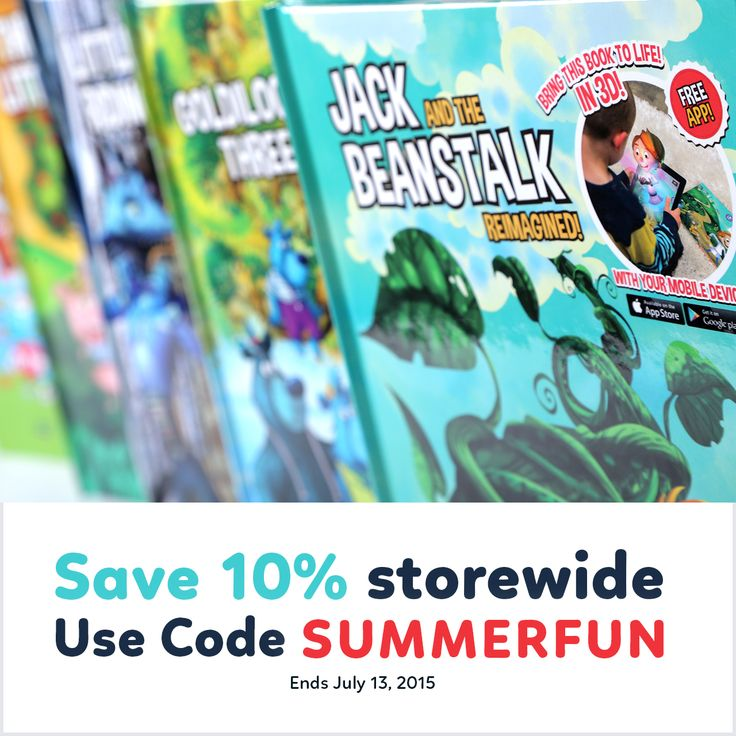 Limited Time Offer: Save 10% storewide on Incredebooks products using Coupon Code SUMMERFUN Deal ends July 13, 2015
