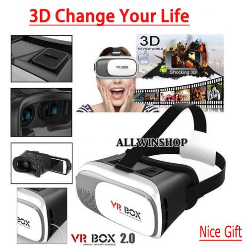 !!! Nice Gift for NEW YEAR 2017 !!! VR Box II 2.0 Version Vr Virtual Reality 3d Glasses Headmount Vrbox 2 Xmas Gift. Starting at $1