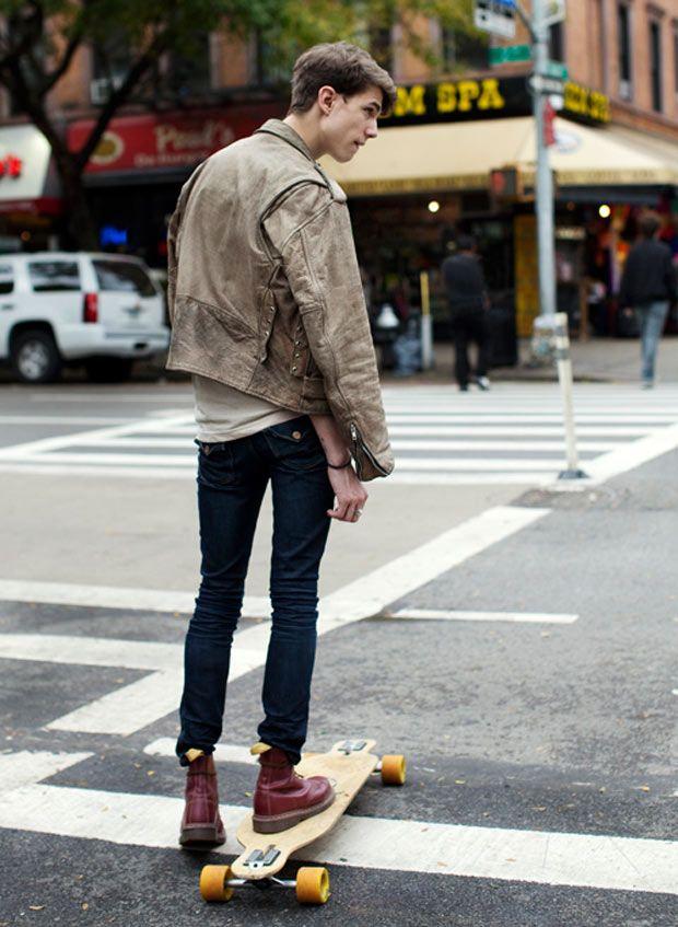 inspiração: jaqueta de couro, peça clássica (+ doc martens = ♥)