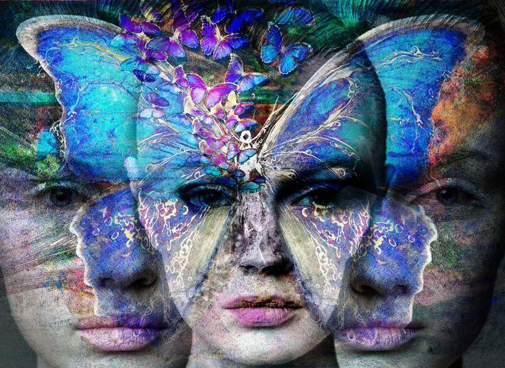 Mirage - Digital Arts ©2018 by Dodi Ballada -                                                        Abstract Expressionism, Illustration, Women, butterfly, digital painting, digital arts, illustration, digital drawings, Dodi Ballada, digital portrait