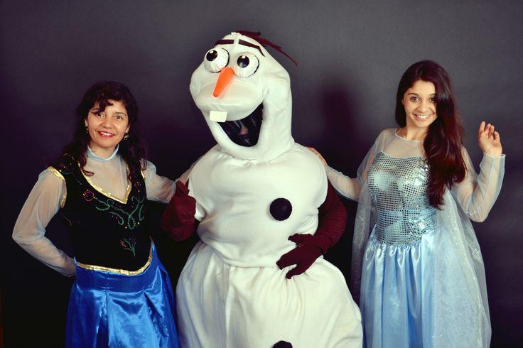 Anna Elsa y Olaf de la peli Frozen en alquiler