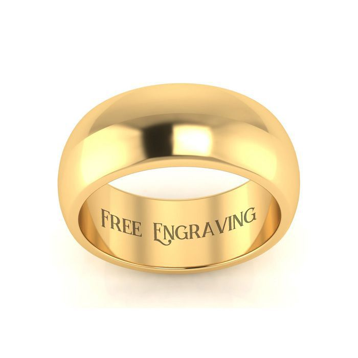 14k Yellow Gold 7 4 G 8mm Ladies Men S Wedding Band Size 16 Free Engraving By Superje In 2020 Mens Wedding Bands Mens Wedding Band Sizes Yellow Gold Wedding Band