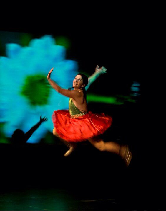 Pirjo Yli-Maunula: Kaamos (Polar Night), performed at Full Moon Dance festival In 2010. photo: Jussi Tuokkola