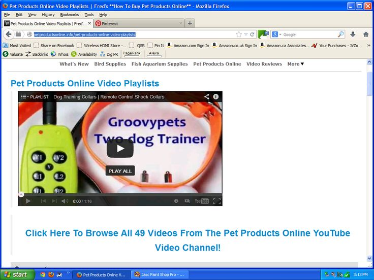 I like watching Pet Products Online Videos At http://PetProductsOnline.info/pet-products-online-video-playlists