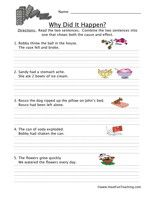 Cause and Effect Worksheet - Have Fun Teaching