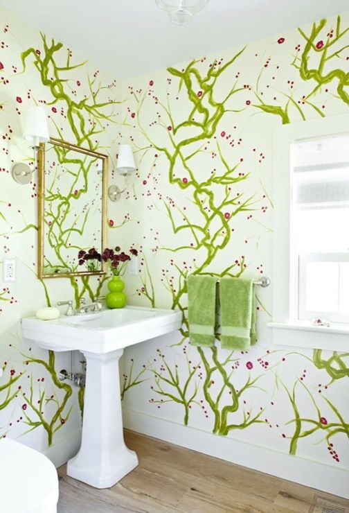 105 Best Images About Bathroom Wallpaper On Pinterest Vanities Tile And Tubs