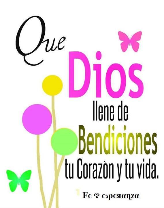 Bendiciones para ti | HBD | Pinterest | Dios and Buen dia