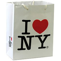 NYCwebStore.com - I Love NY Small Gift Bag, $1.50 (http://www.nycwebstore.com/i-love-ny-small-gift-bag/)